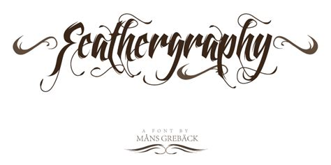tattoo font designs free download feathergraphy font dafont com