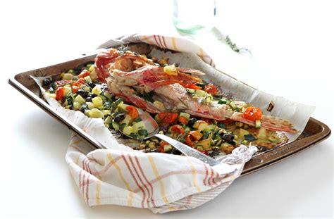 cucinare lo scorfano al forno scorfano al forno con verdure wonderfood cucina creativa