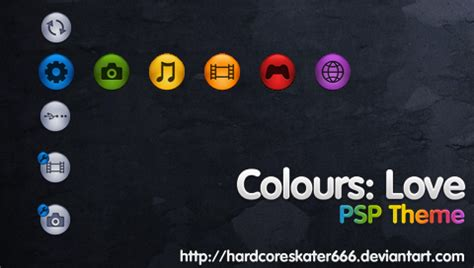 psp themes free download ptf colours love psp theme by hardcoreskater666 on deviantart