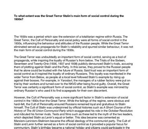 Stalin Essay by Great Terror Stalin Essay