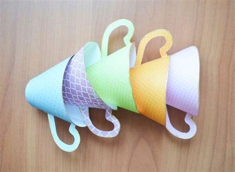 basteln mit tassen tasse aus papier basteln sch 246 ne dekoration dekoking