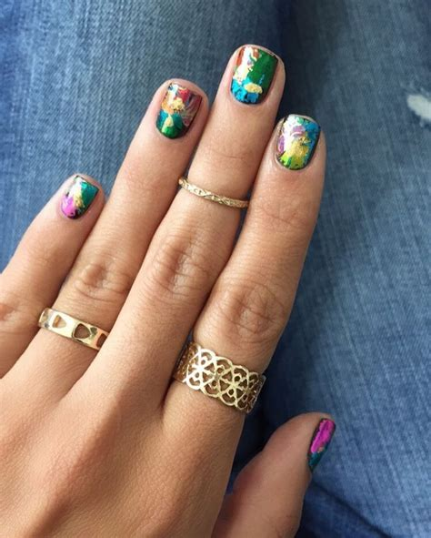 for nails this opt for a nail foil go to town