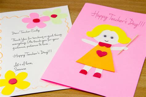 Handmade Cards For Teachers - simple teachers day made card designs 2015
