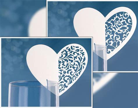 Platzkarten Hochzeit by Platzkarten Tischkarten Hochzeit Taufe Tischdekoration