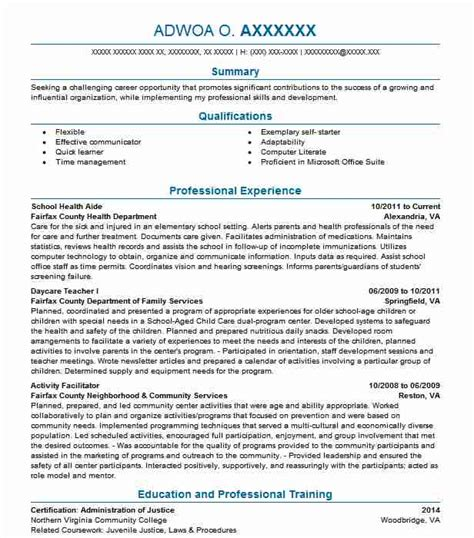 health resume exles community and service resumes livecareer