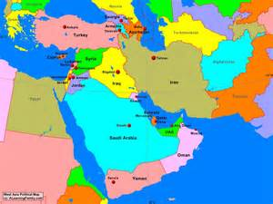 Asia Political Map west asia political map a learning family