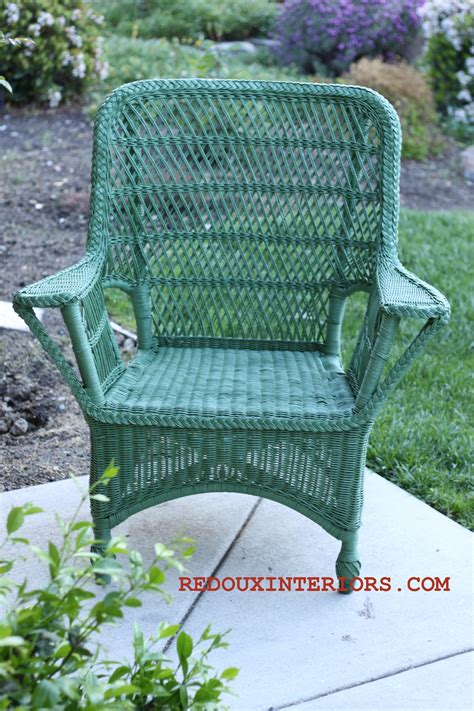 spray painting wicker wicker chairs bright colours and garden furniture on