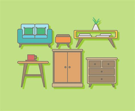 free home furniture vector vector graphics
