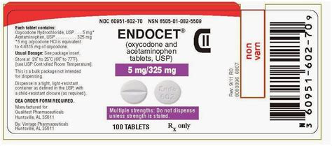 Shelf Of Percocet by Rxman You Gave Endocet Not Oxycodone