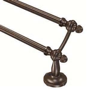 bronze towel bars shop moen gilcrest rubbed bronze towel bar