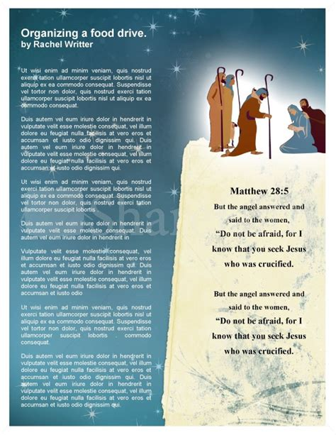 Nativity Church Newsletter Template Template Newsletter Templates Nativity Letter Template