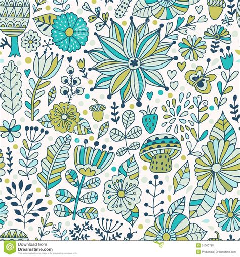 when i doodle i draw flowers vector seamless pattern doodling design draw