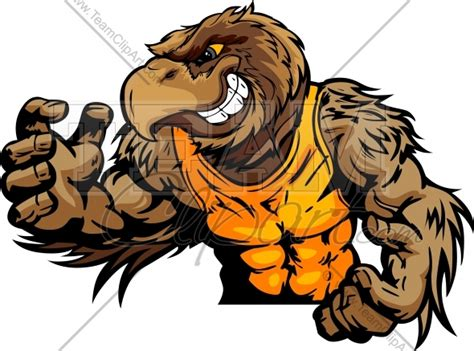 Alpukat Fuerte By Golden Effort hawk wrestler in pose vector image
