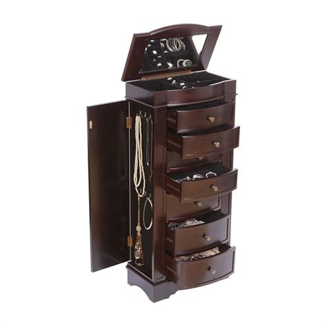 mele and co jewelry armoire mele and co chelsea jewelry armoire in dark walnut 00914s13