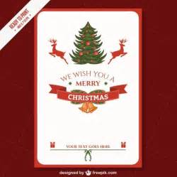 Cmyk printable christmas card template vector free download