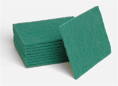 Green Scouring Pads   Heavy Duty