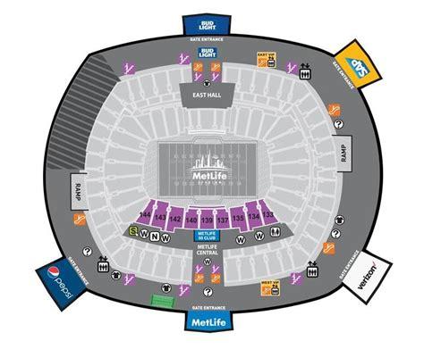 metlife stadium seating chart giants seating maps
