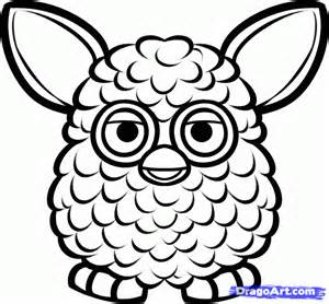 draw furby step step characters pop culture free drawing tutorial added