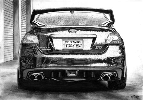 supercar drawing subaru wrx sti 2015 realistic isp drawing supercar by