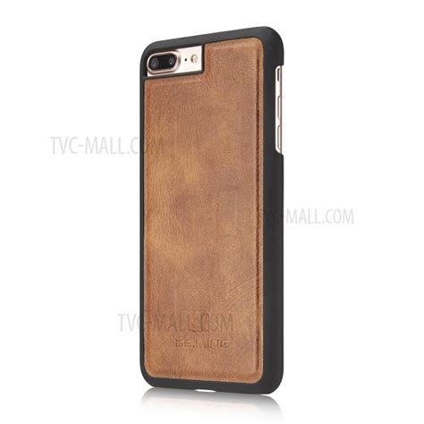 Iphone 7 Plus 5 5 Wallet Dg Ming Leather Card Slot Dompethp Flip dg ming split leather wallet magnetic pc shell for