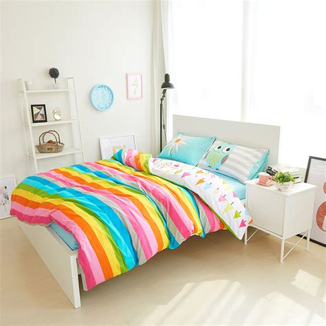 rainbow bed rainbow stripe bedding reviews online shopping rainbow
