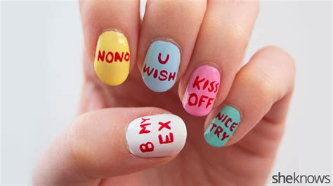 s day anti valentines a nail design for who just aren t that into