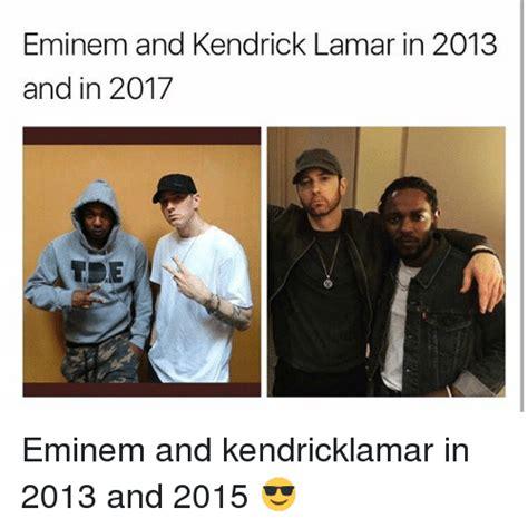 eminem vs kendrick lamar eminem and kendrick lamar in 2013 and in 2017 eminem and