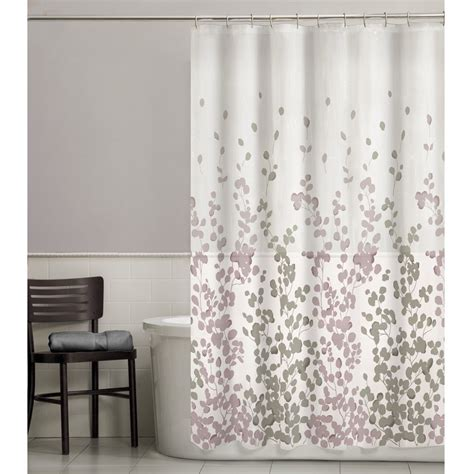 material shower curtains maytex sylvia leaf fabric shower curtain