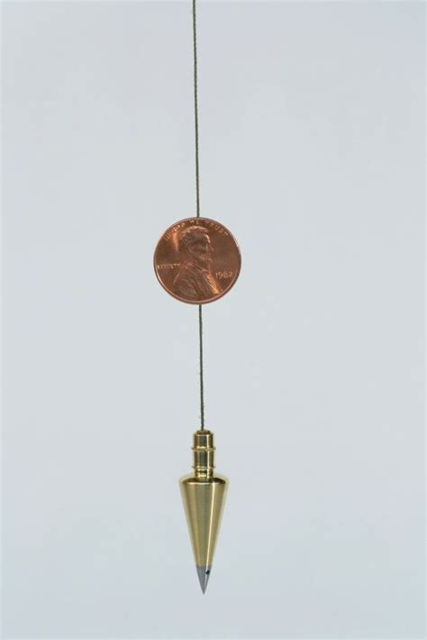 Plumb Bob Surveying by Miniature Brass Surveyor S Plumb Bob With Steel Tip