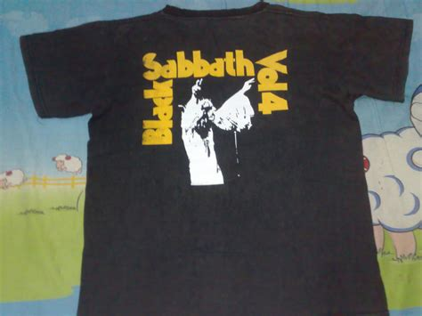 T Shirt Anak Faded anak liar rocks black sabbath band vol 4 t shirt sold
