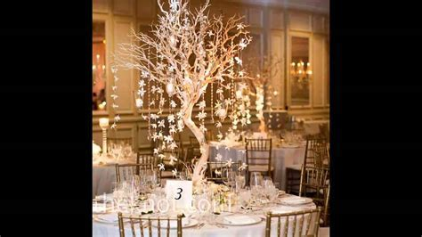 Easy Winter wedding table decorations   YouTube