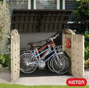 Bicycle Shed Keter Woodland Ultra Xl Wheelie Bin Bike Garden