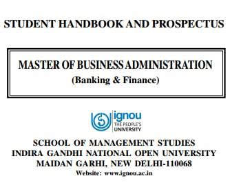Mba In Banking And Finance Fees by Ignou Mba Banking And Finance Prospectus 2017 Ignou