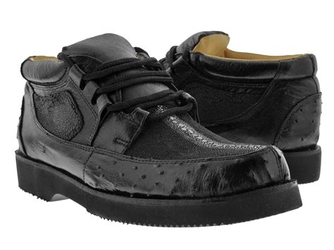 ostrich shoes mens black genuine stingray ostrich crocodile skin sneaker