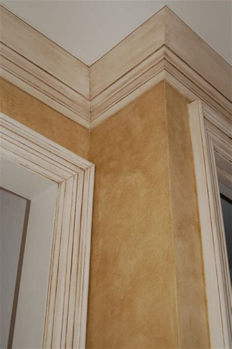 Kitchen Cabinets Stain Or Paint by Stained Matte Plaster Walls Creme Glazed Trim Main