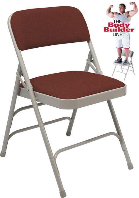 300 lb capacity desk chair triple brace fabric padded steel folding chair 300 lb
