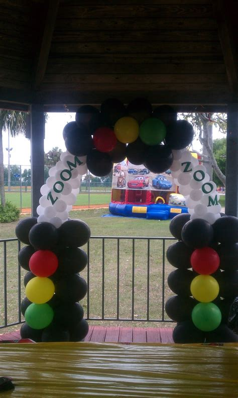 Car s balloon decoration arch teasha balloon decorations by teasha green pinterest