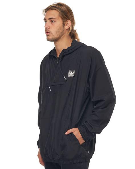 Jaket Sweater 3 Colour Adidas Black adidas originals hip packable mens jacket black surfstitch