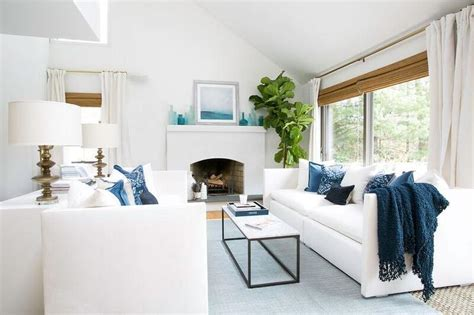 white and blue living room white and blue coastal living room design ideas