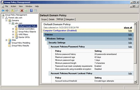 change active directory password policy  windows