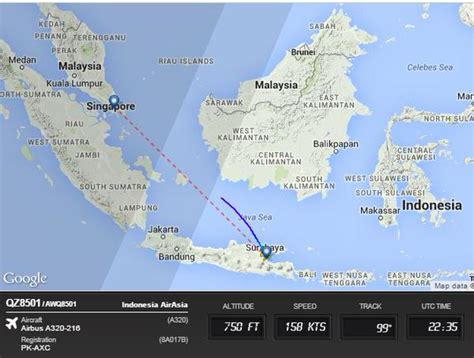 airasia indonesia twitter airasia flight qz8501 missing en route from surabaya