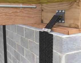 carbon fiber basement wall repair basement wall reinforcement carbonarmor and armorlock