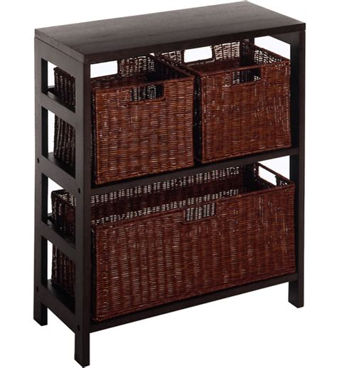 shelves with baskets for storage wicker storage chest in shelves with baskets