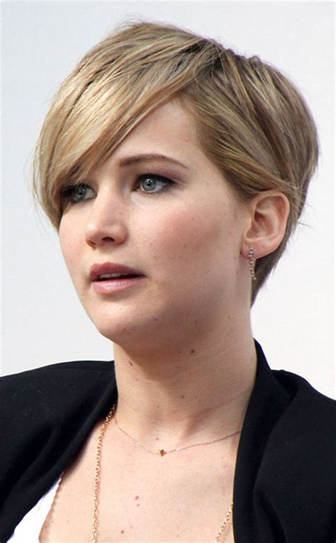 2014 short hairstyles for round faces jennifer lawrence short hair short pixie hairstyles for women short hairstyles 2017