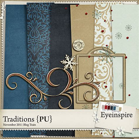 free digital free digital scrapbook kit traditions from eyeinspire