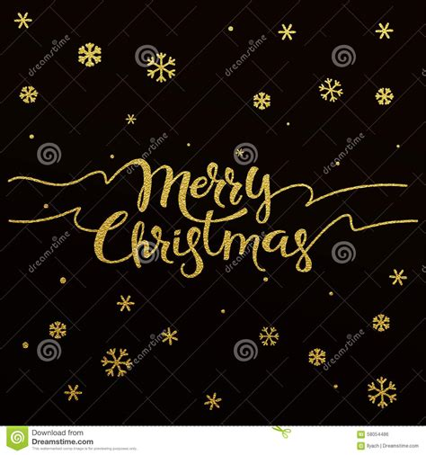 gold lettering design  card merry christmas stock vector image