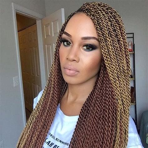Best Hair For Blonde Senegalese Twists | 30 protective high shine senegalese twist styles