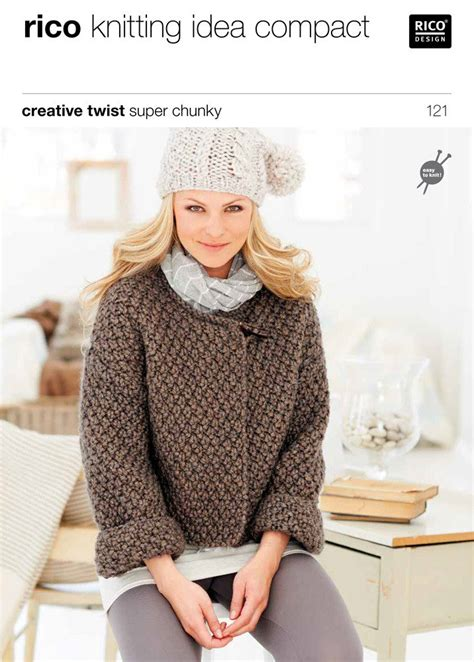 free knitting patterns chunky cardigans cardigans in creative twist chunky 121