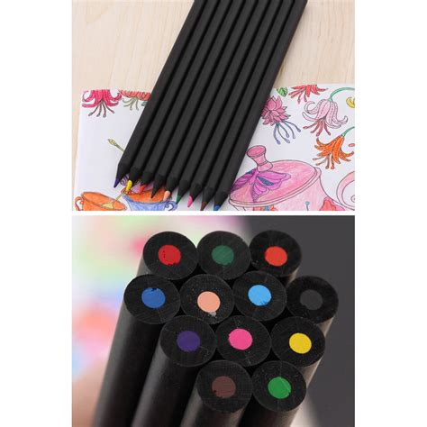 Joyko Pensil Warna 12 Warna pensil warna black wood drawing sketches 12 warna box black jakartanotebook