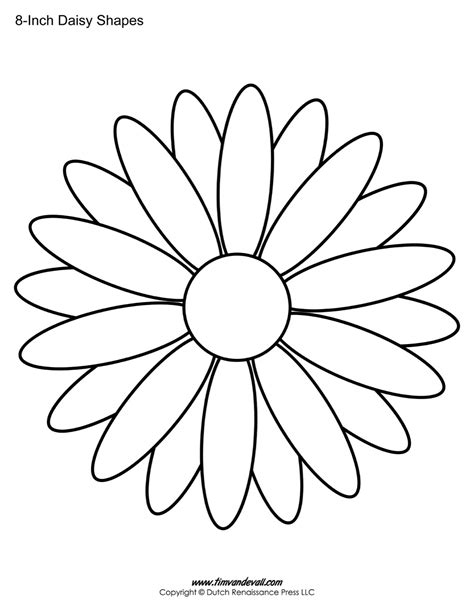 Printable Daisies Flowers | daisy template printable www imgkid com the image kid